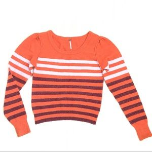 Free People Complete Me Striped Sweater Medium
